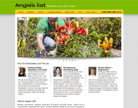 Angie's List Career Site